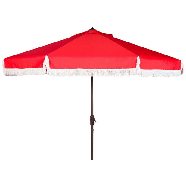 Riviera Fringe Umbrella in Red