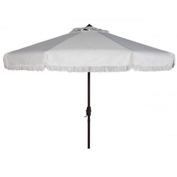 Riviera Fringe Umbrella in White