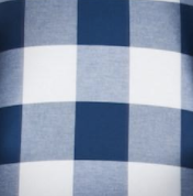 Navy Gingham - Fabric by the Yard