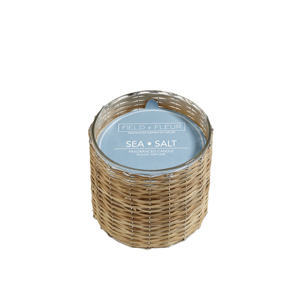 Sea & Salt Handwoven Wicker Candle