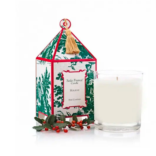 Holiday Classic Toile Pagoda Scented Candle