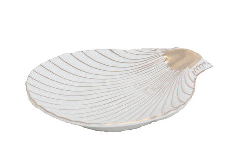 Porcelain Clam Shell Tray