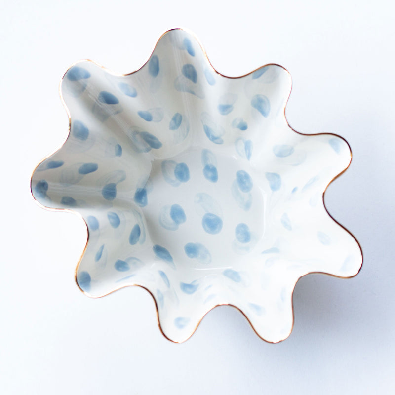 Society Social x Susan Gordon Signature French Blue Wavy Bowl
