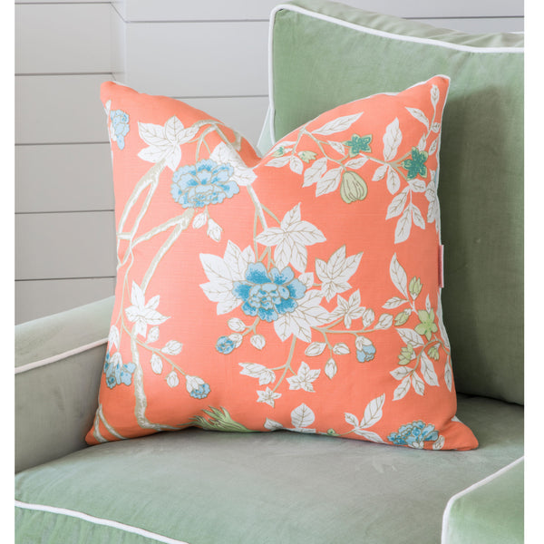 Tangerine Chinoiserie Pillow