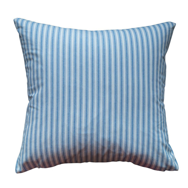 Ticking Stripe Chambray Pillow