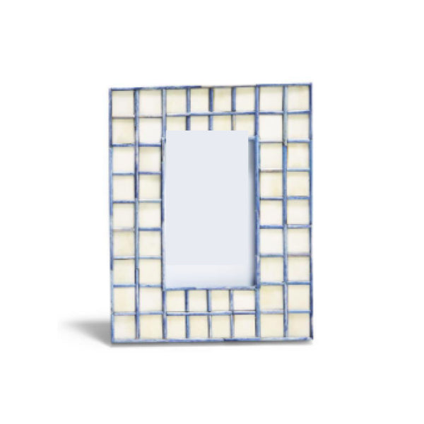 "Blue Tiled Frame  4""x 6"""