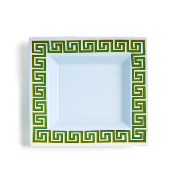 Blue Greek Key Desk Tray