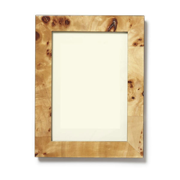 Burled Light  Wood Frame 8 x 10