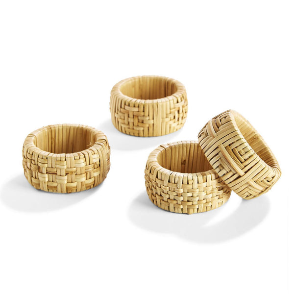 Set of 4 Wicker Napkin Rings