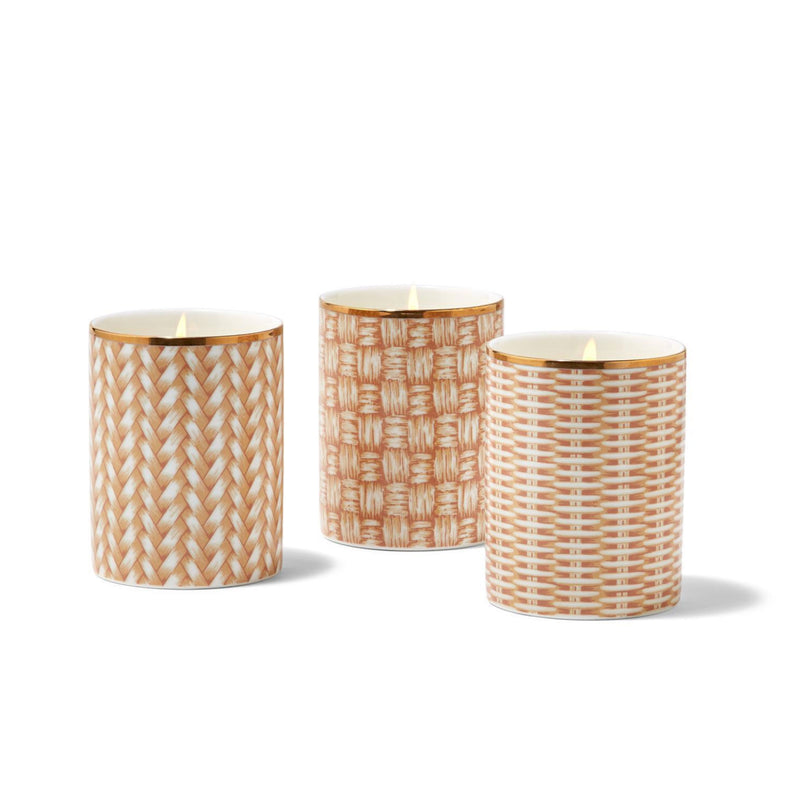 Rattan Basketweave Candle