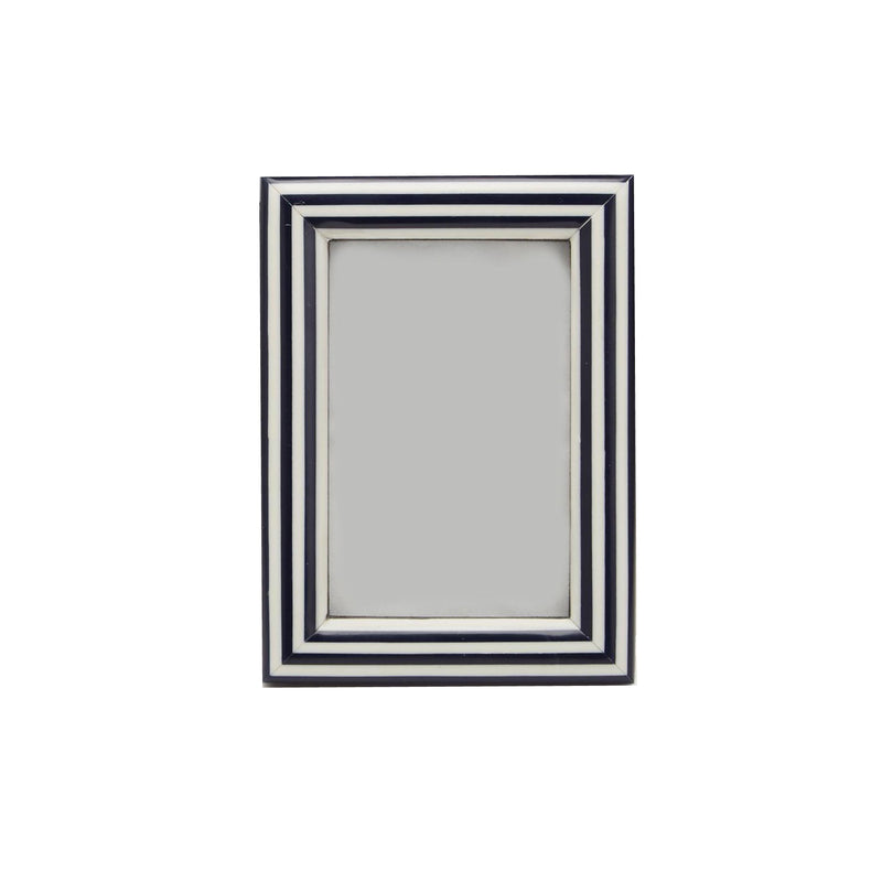"Navy Nautical Stripe Frame  4""x 6"""