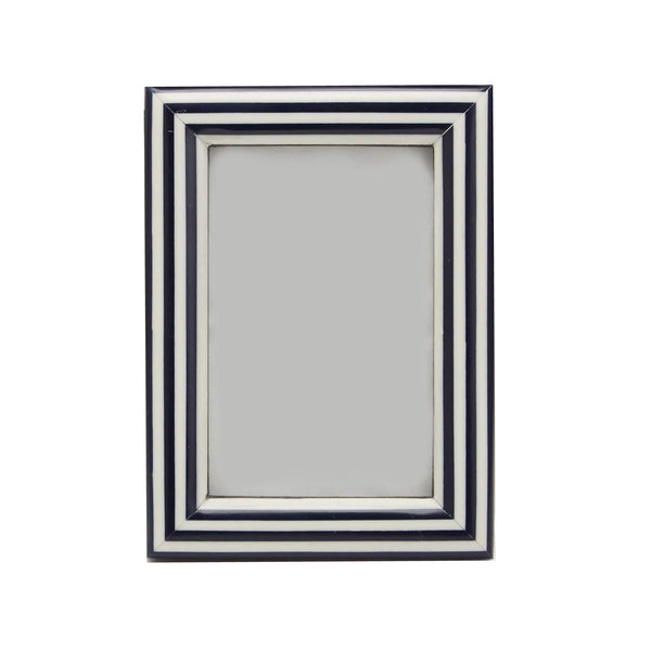 "Navy Nautical Stripe Frame  5""x 7"""