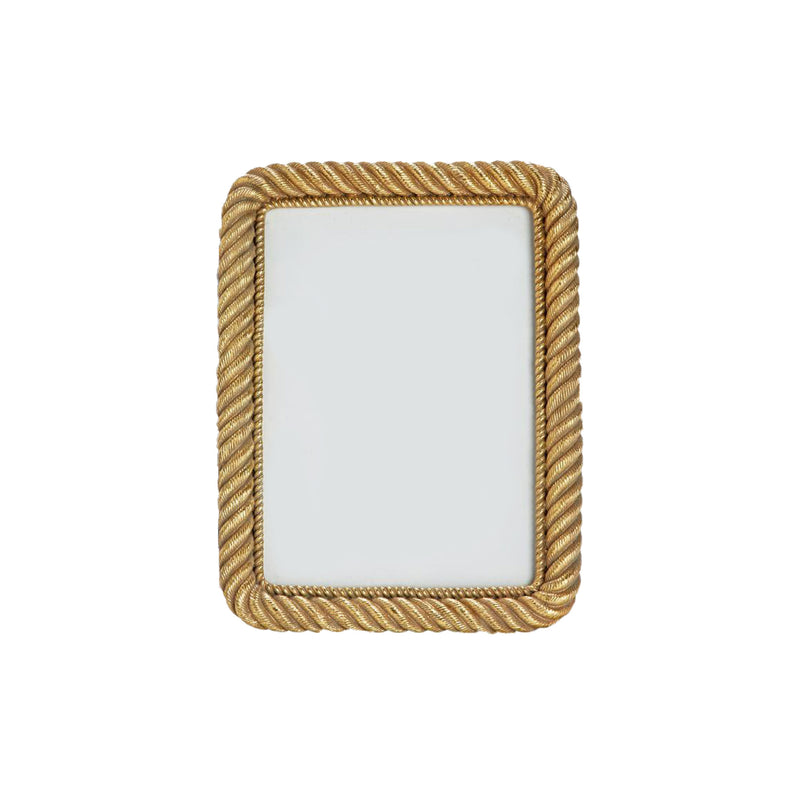 "Gold Rope Frame  4""x 6"""