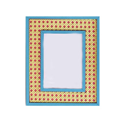 Hampton Cane Frame in Turquoise