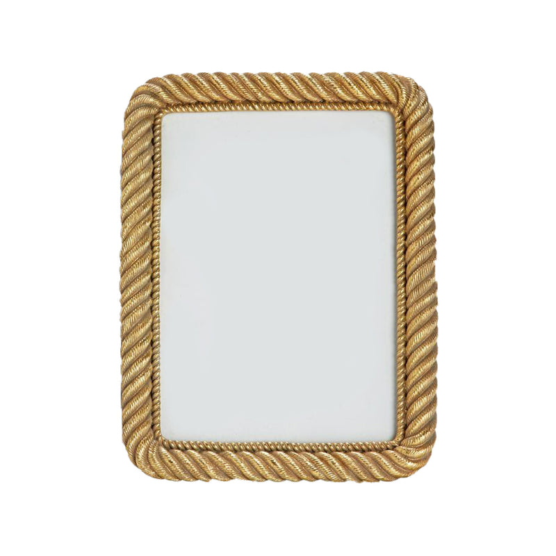 "Gold Rope Frame  5""x 7"""
