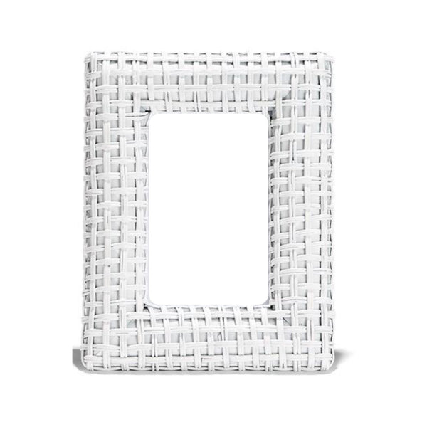 "White Rattan Plaiting Weave Frame  4""x 6"""