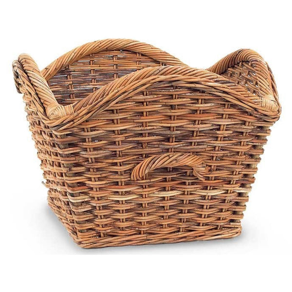 Wicker Scalloped Basket