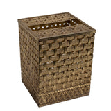 Woven Brass Tissue-Box Cover