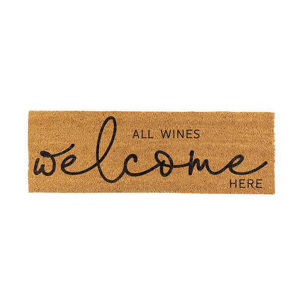 All Wine Welcome Door Mat