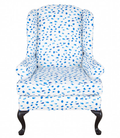 "Chelsea Wing Chair - Inslee ""Africa"""