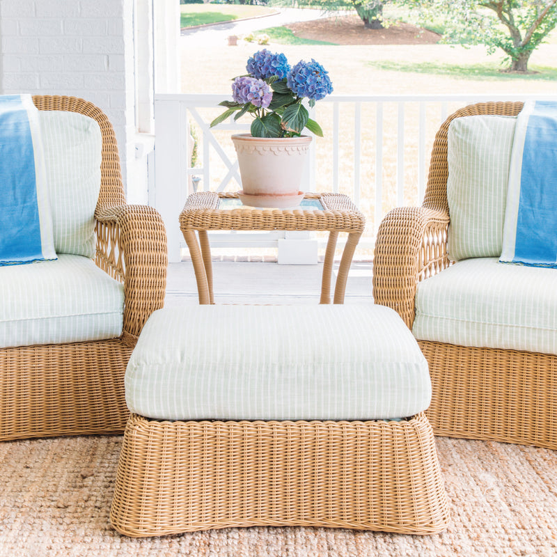 Claremont All-Weather Wicker Ottoman