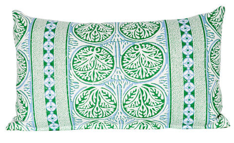 Fair Isle Lumbar Pillow - Green