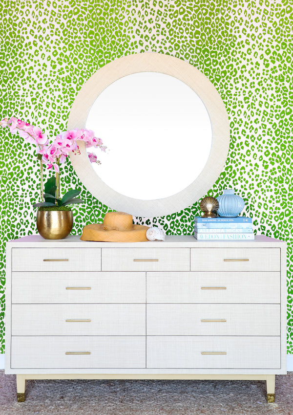 Carmen Grasscloth Dresser - Natural