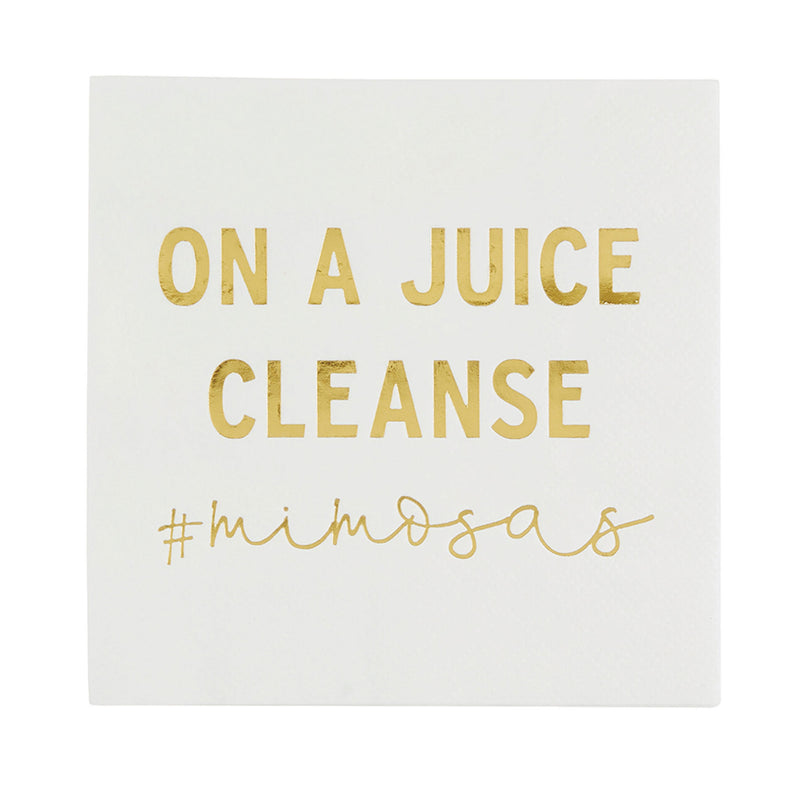 Juice Cleanse Cocktail Napkin