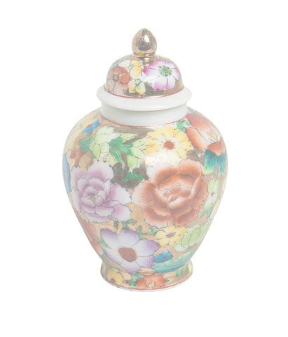 Gold Floral Mini Ginger Jar