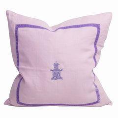 Lavender Pagoda Trim Pillow
