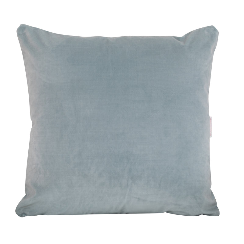 Colorblock Velvet Pillow - Emerald & Spa