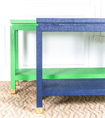 Ming Grasscloth Console   Choose Your Own Color Collection