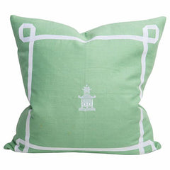 Mint Pagoda Trim Pillow