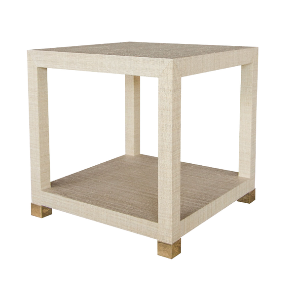 Newport Grasscloth End Table
