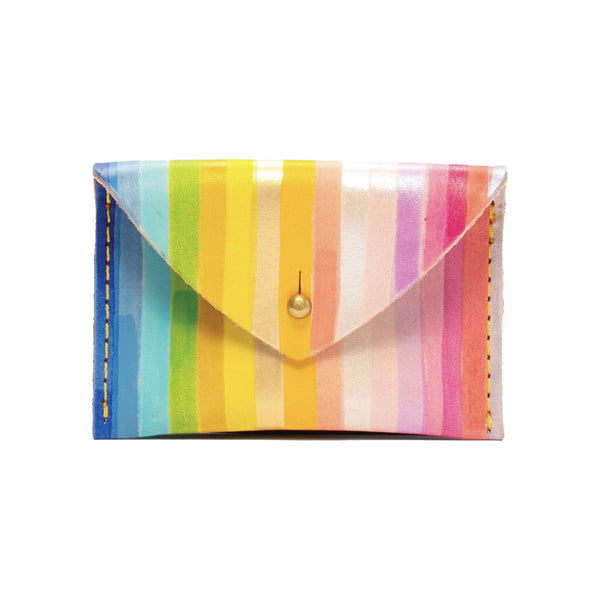 Rainbow Stripe Envelope Wallet