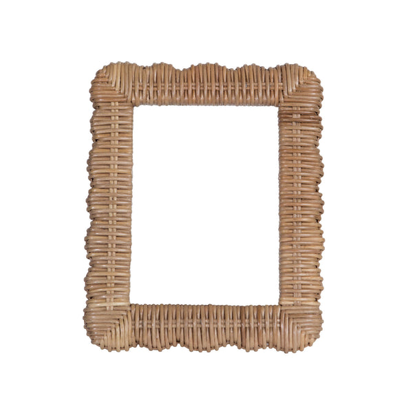 Scalloped Wicker Frame