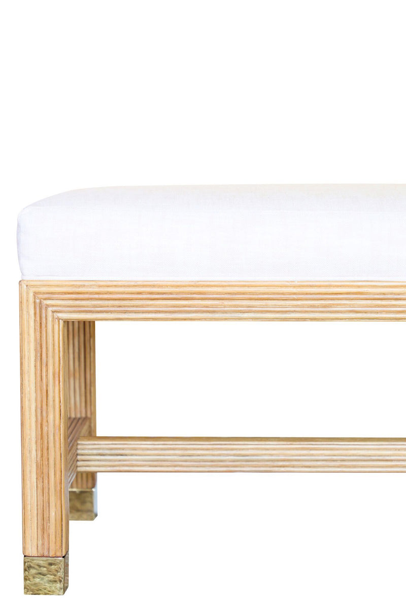 May Flor Pencil Rattan Bench
