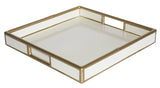 Faux Bamboo Tray - White
