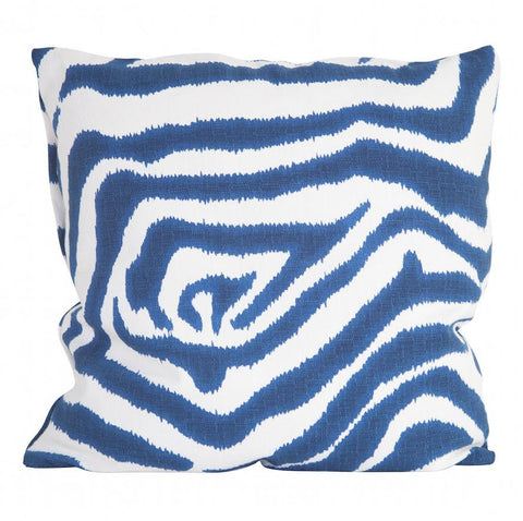 Zebra Blue Pillow