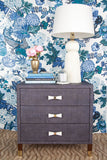 Carmen Grasscloth Nightstand - Navy with Bow Pulls