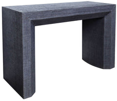 Avery Grasscloth Console Table - Navy
