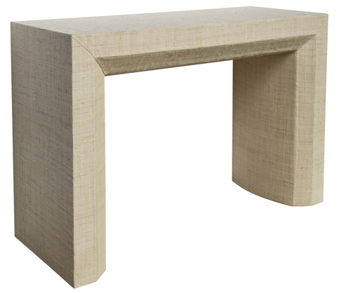 Avery Grasscloth Console Table - Natural