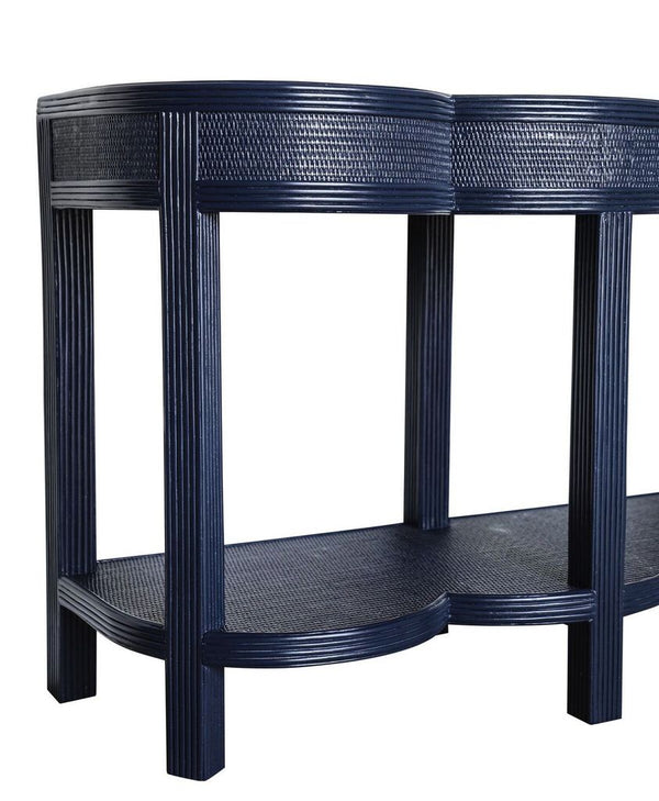 Lilo-An Scalloped Pencil Rattan Console