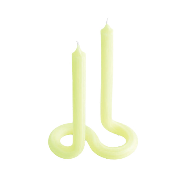 Yellow Twist Candle