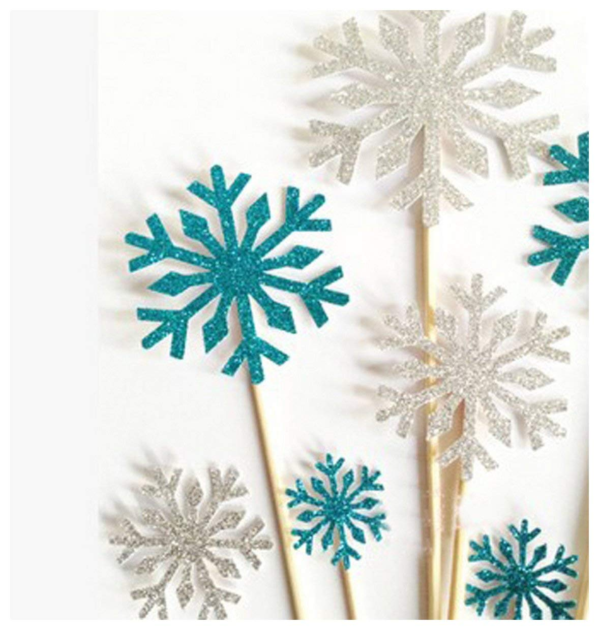 Cake Decorating 10 Counts Frozen Party Supplies Cupcake Toppers Toothpicks Picks Wedding Decorations Silver Or Blue Blue