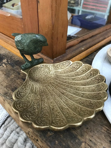 Brass and Porcelain Bird Dish-Creatively Active Minds-Bristle by Melissa Simmonds