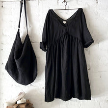Load image into Gallery viewer, Molly Linen Dress - Black