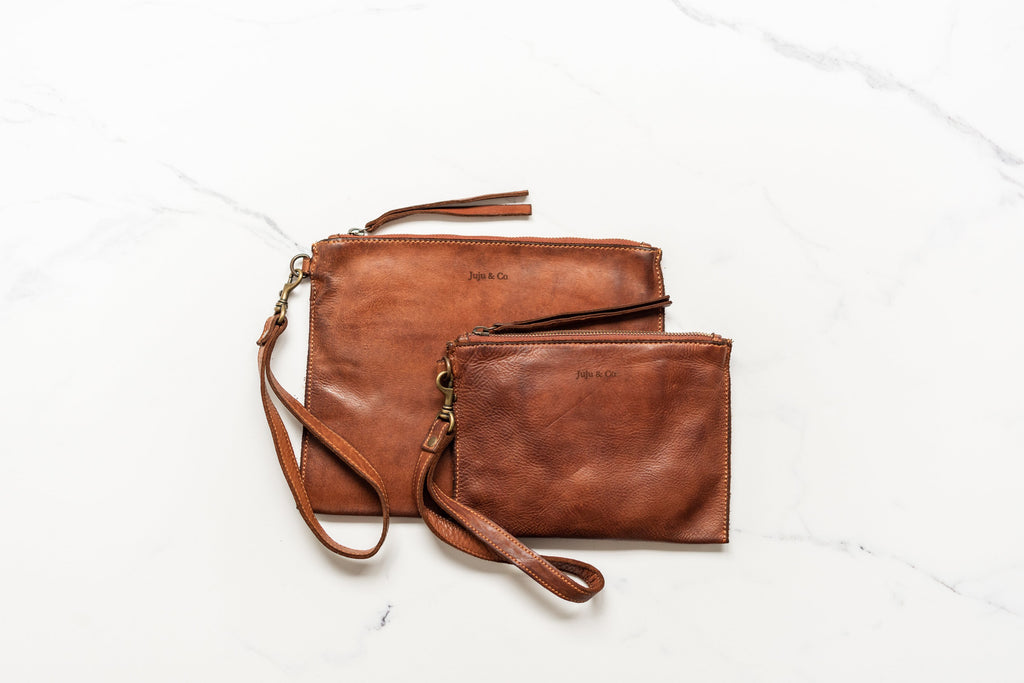 Small Flat Pouch Cognac