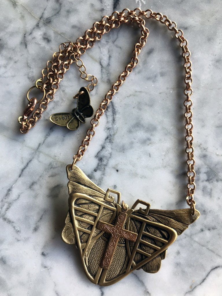 Metamorphosis Necklace-Ghost & Lola-Bristle by Melissa Simmonds