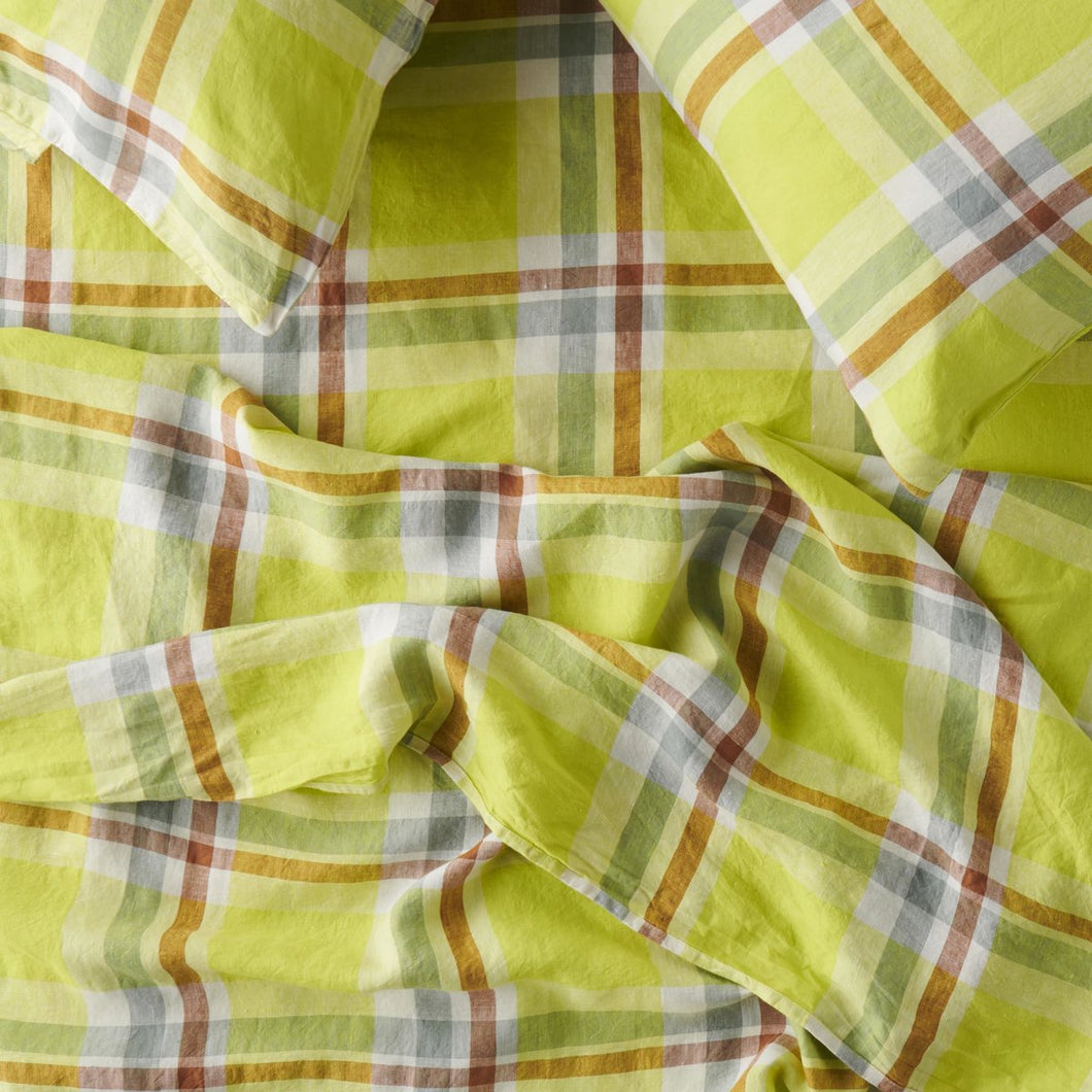 Citron Fitted Sheet-Society of Wanderers-Bristle by Melissa Simmonds